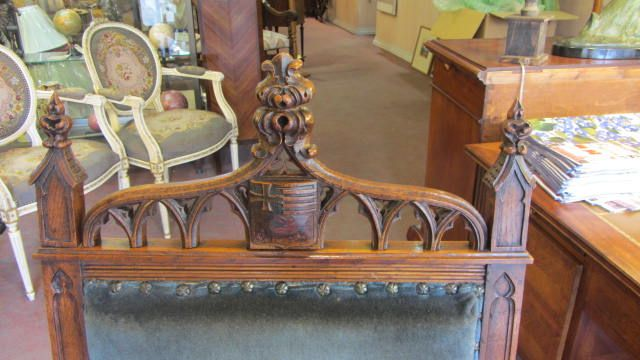 Gothic decoration on a Victorian Style Mahogany Spode Back Dining