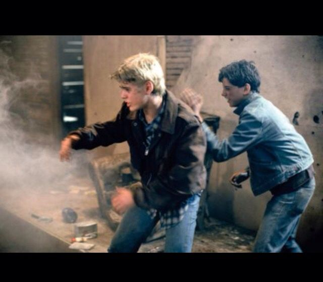 Johnny And Ponyboy In The Abandoned Church Fire From The