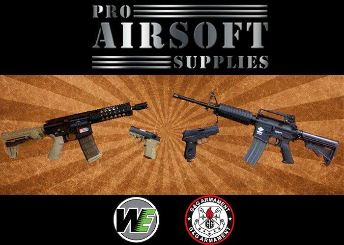 Pro Airsoft Supplies Pistol & Rifle Promo