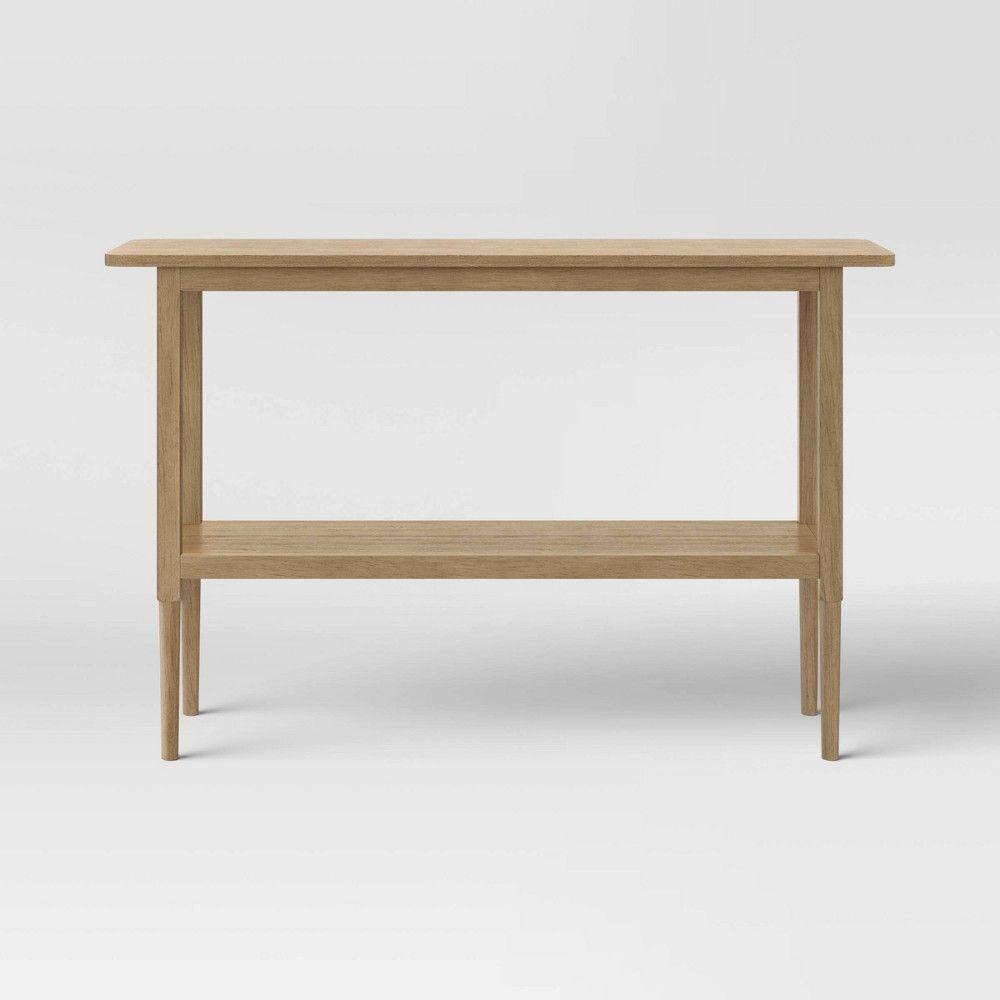 Gretna Narrow Console Table Natural Threshold In 2020 Narrow Console Table Console Table Table
