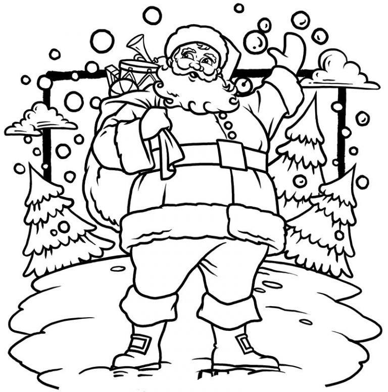 Free Printable Santa Claus Coloring Pages For Kids Santa