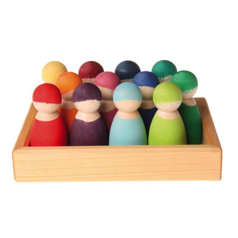 12 amis pastel, figurines Grimm's