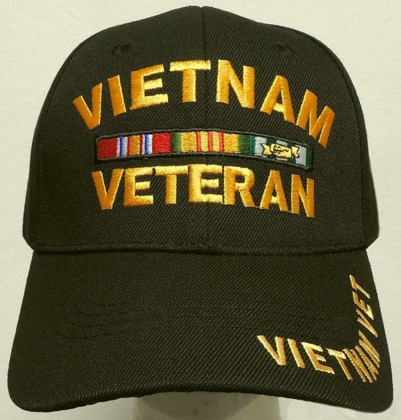 60b1a31a061 NEW DELUXE VIET NAM VIETNAM CAMPAIGN SERVICE WAR ERA RIBBON VETERAN VET CAP  HAT  PREMIUMHATS  BaseballCap