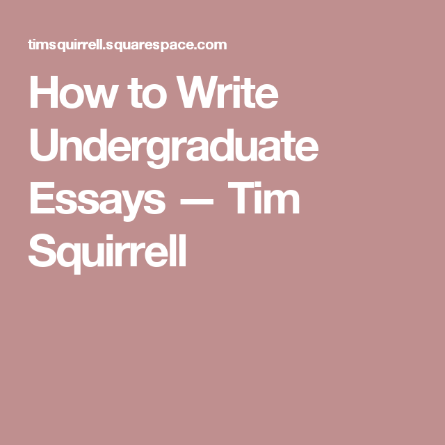 how to write undergraduate essays tim o brien writing and essay how to write undergraduate essays