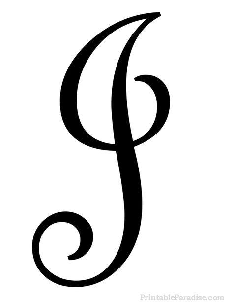 Printable Letter J In Cursive Writing Tattoo Ideas Cursive