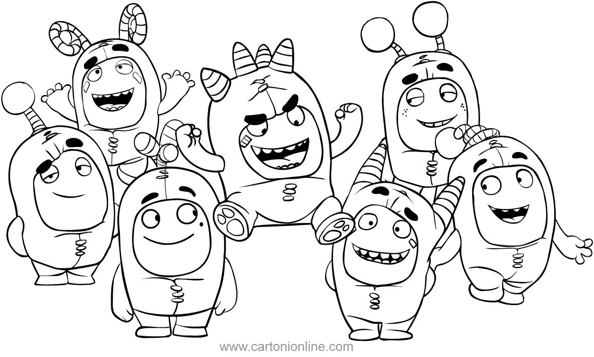 Disegno Of The Oddbods Coloring Page To Print Puppy Coloring