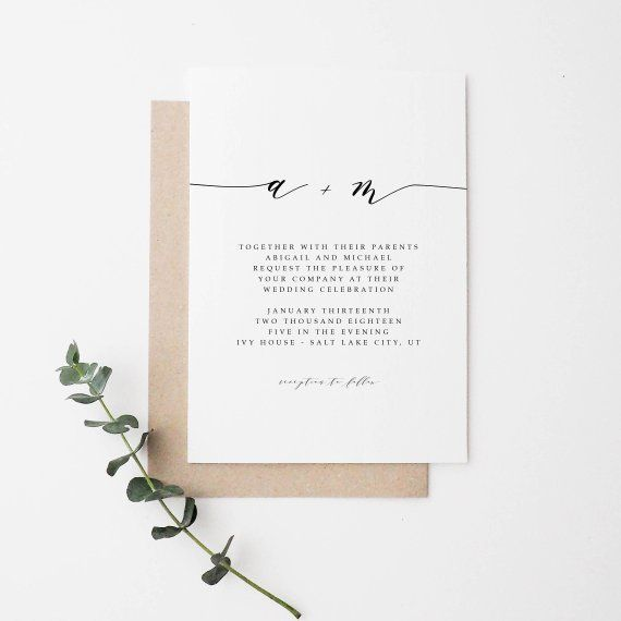 Simple Wedding Invitation | Modern Wedding Invitation