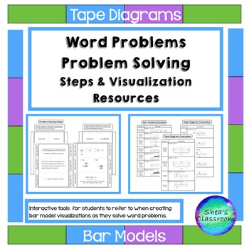 Tape diagram problem solving interactive notebook activities word tape diagrams andor bar models are visual models that are an effective problem solving ccuart Gallery
