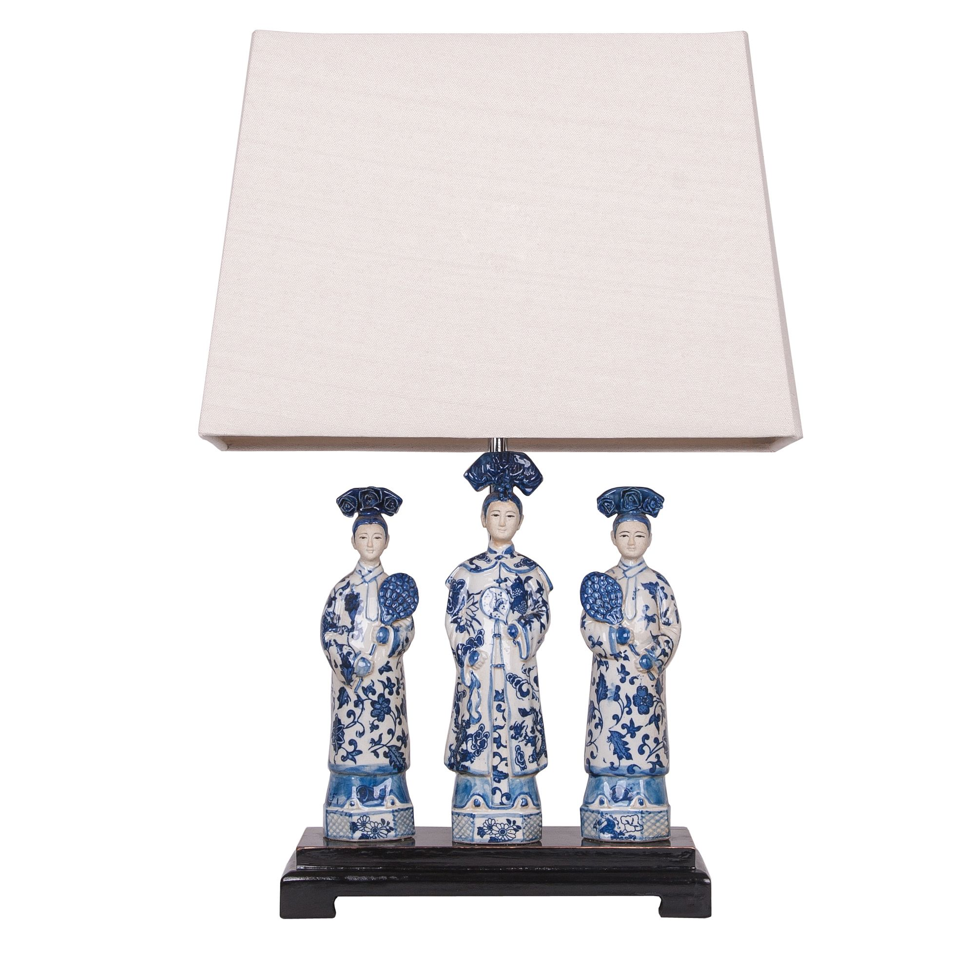 Add some culture and diversity to any space with this Oriental Queens Ceramic Lamp With Wood Base. This lamp is sure to become the focal point of any modern space.