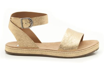 9c0610855c9 Womens Casual Sandals - Romantic Moon in Gold Metallic from Clarks shoes