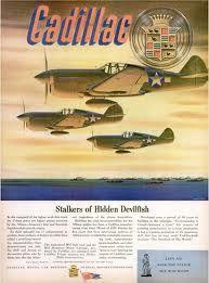 World War II Cadillac war effort ad.
