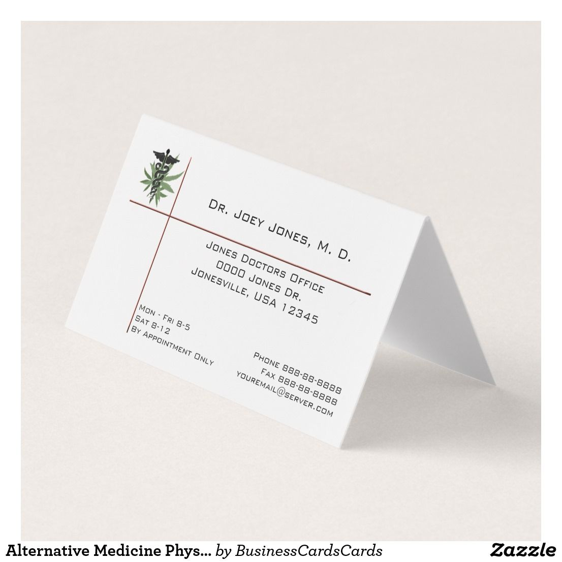 Marijuana Cannabis Alternative Medicine Business Business Card ...