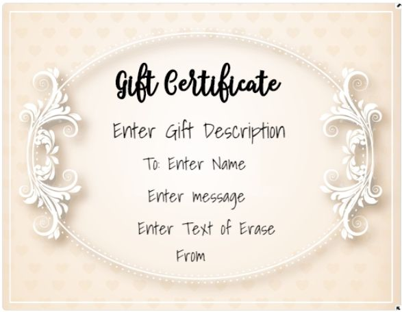 use our free online gift certificate maker to make free printable gift certificates in under 2 minutes templates available