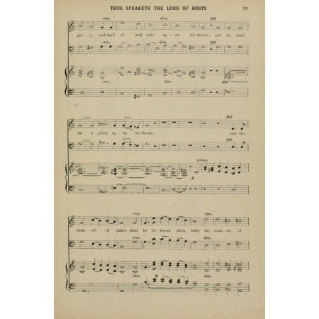 Thus Speaketh the Lord of Hosts 2 J Stainer Christmas Carols & Hymns 1910 Canvas Art - (18 x 24)