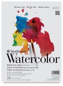 Strathmore Watercolor Paper Pad 300 Series 11in X 15in Tape
