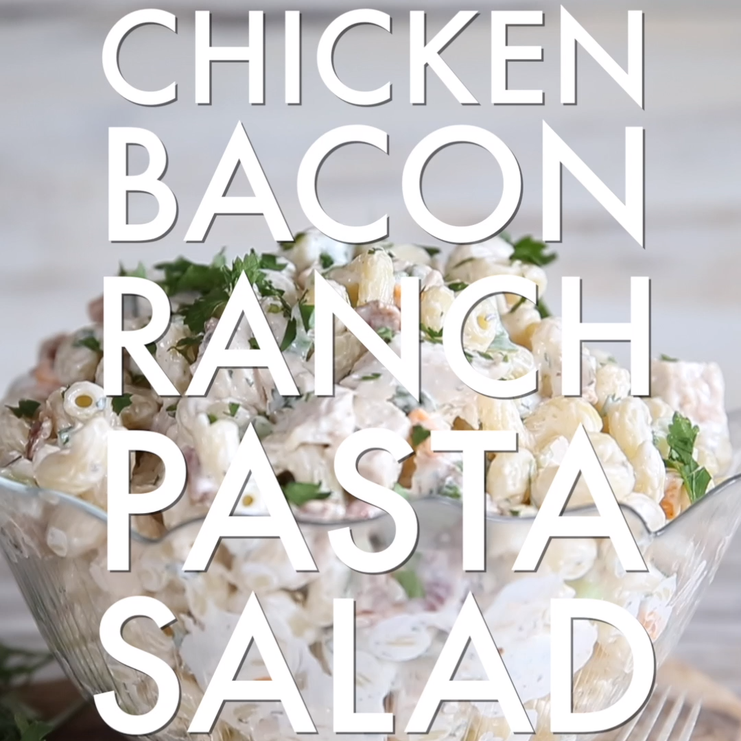 Chicken Bacon Ranch Pasta Salad is the ULTIMATE summer pasta salad. So simple to make and absolutely bursting with flavour, after trying this recipe you won't make pasta salad any other way!   .uk