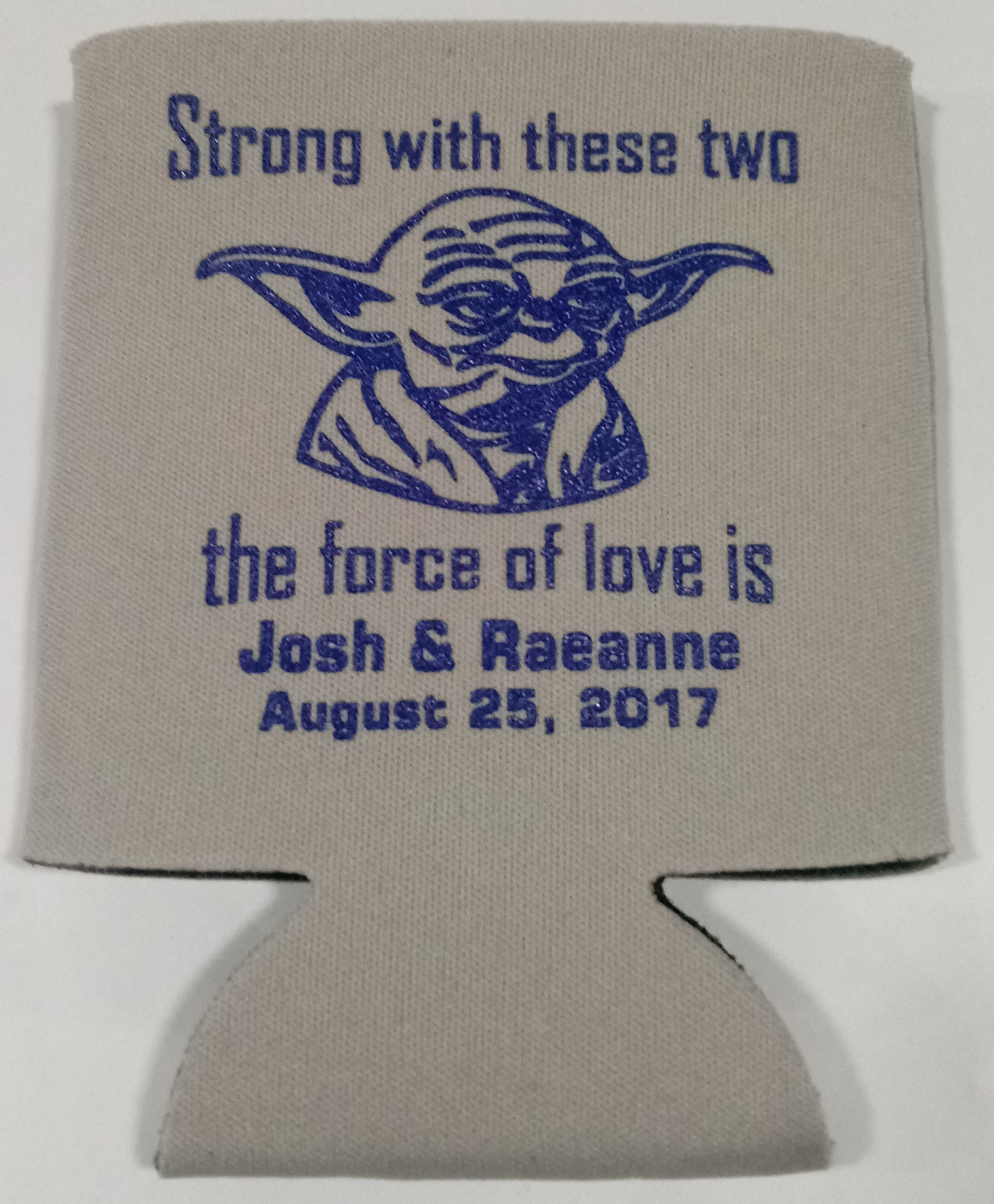 917b39b005387c Yoda Wedding Can coolers Personalized. Yoda Wedding Can coolers Personalized  Columbia Blue ...