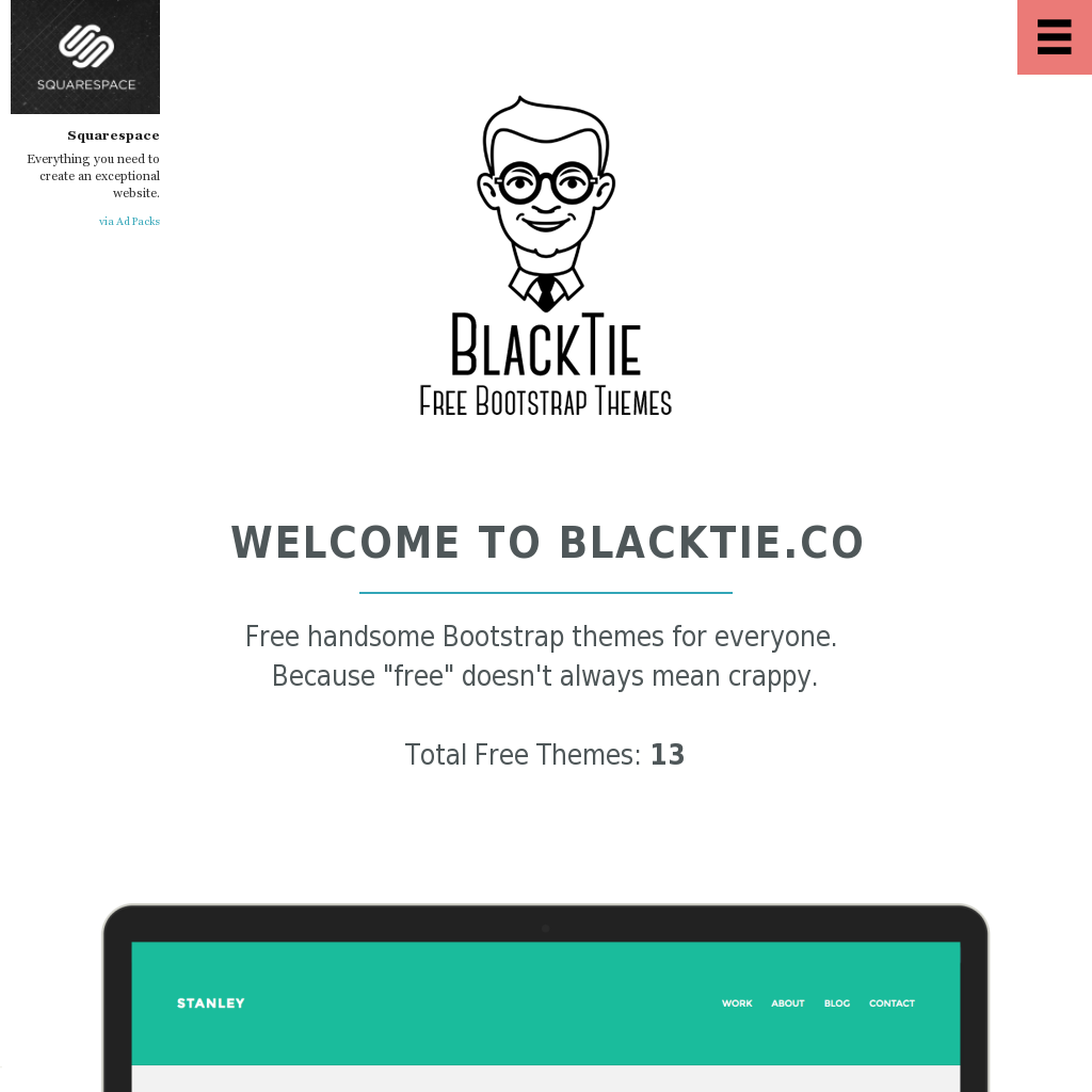 Blacktie Co Free Handsome Bootstrap Themes For Everyone Because Free Doesn T Always Mean Crappy Top Web Designs Web Design Website Template