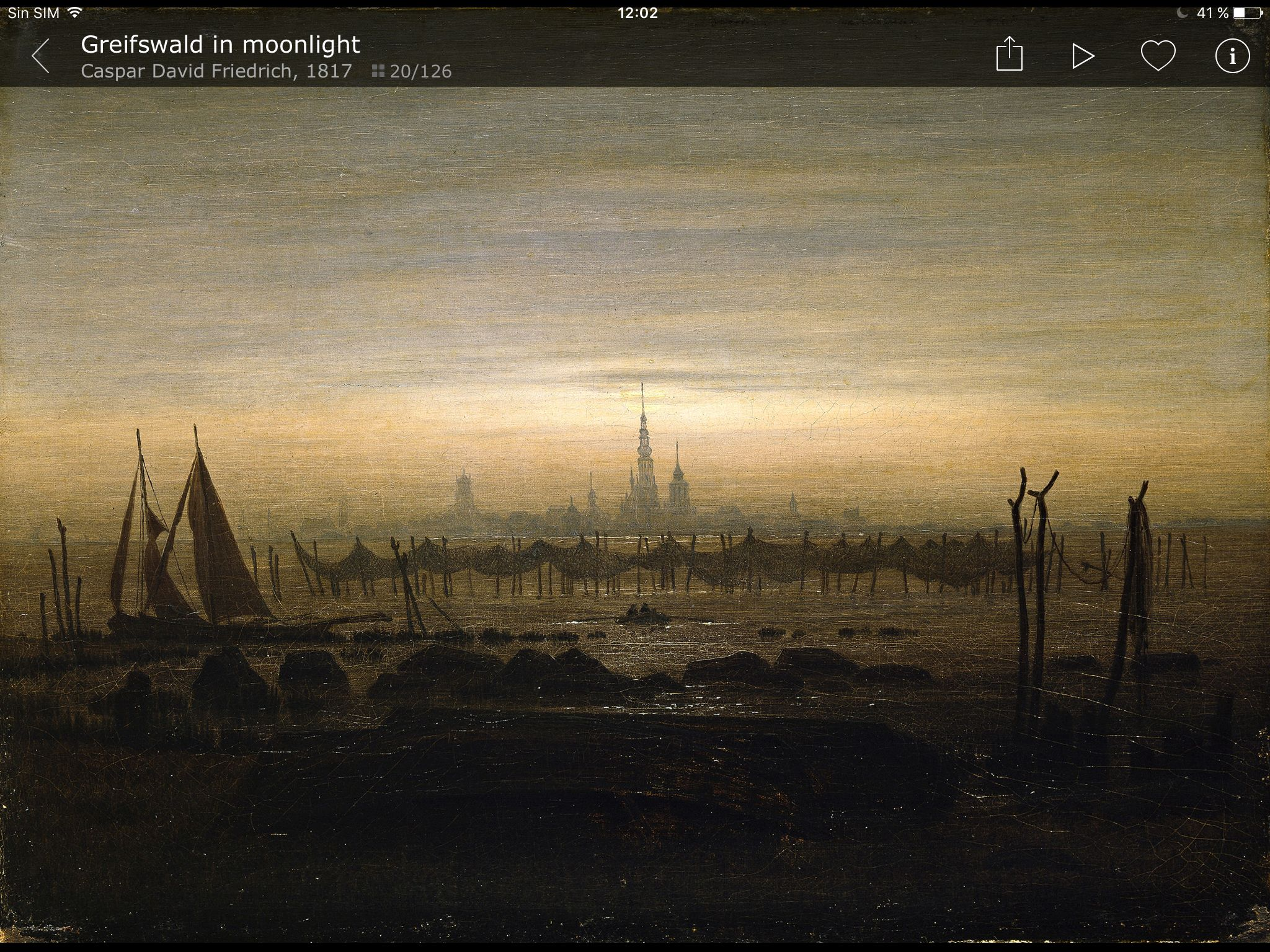 5. Friedrich. Abadía en el robledal. 1809-10. Sus cuadros poseen una luz gélida, que para Goethe era la iluminación propia de los pintores del norte.