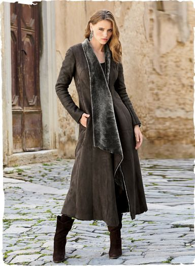 848e0dca005 Peruvian Connection | Savoie Shearling Coat This sublime coat exudes luxury  and romance. A coat to treasure for a lifetime #shearling #leather
