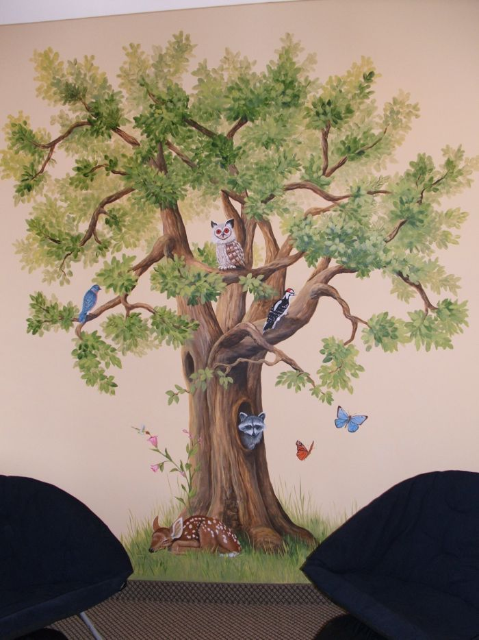 Image Result For Tree Wall Painting Ideas