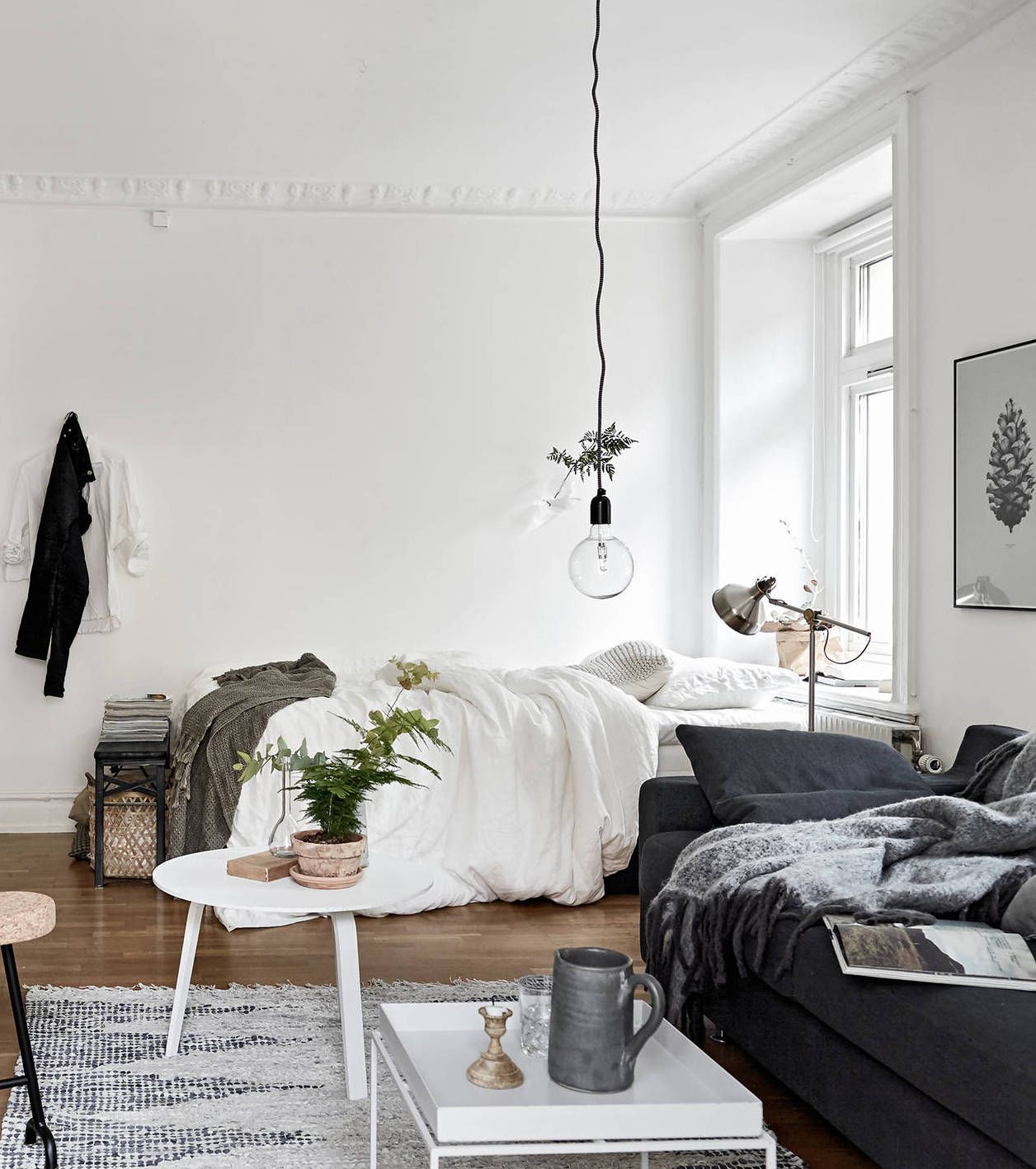 Cozy One Room Flat Via Cocolapinedesign More