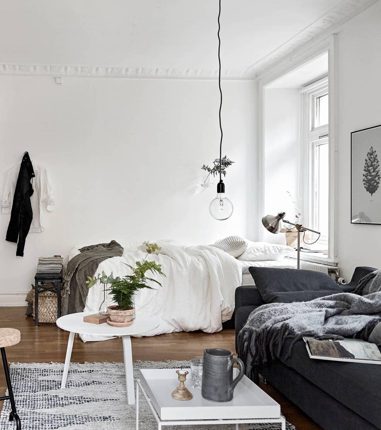 Cozy one room flat - via cocolapinedesign.com … | Pinteres…