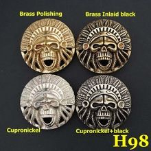 H98 43mm Brass Indian Chiefs Conchos