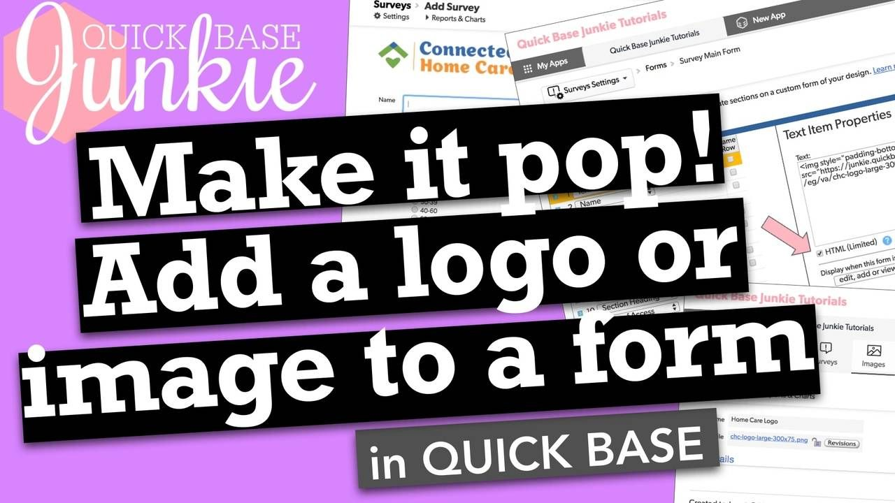 Logos help drive confidence and adding a logo to a form