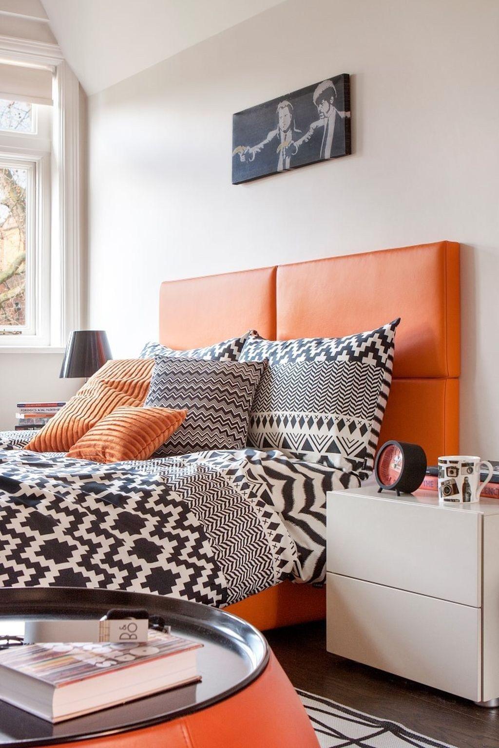 11+ Stunning Orange Bedroom Decorating Ideas For Modern House