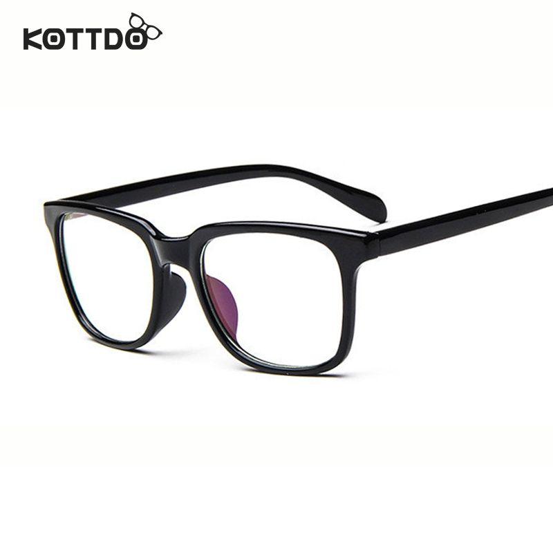 new square big frame men women brand designer eyeglasses frame ...