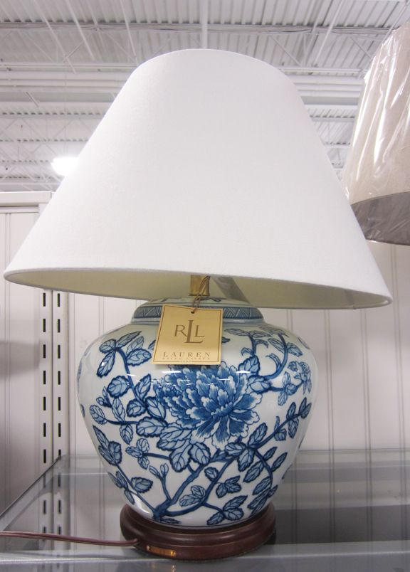 White And Blue Table Lamp