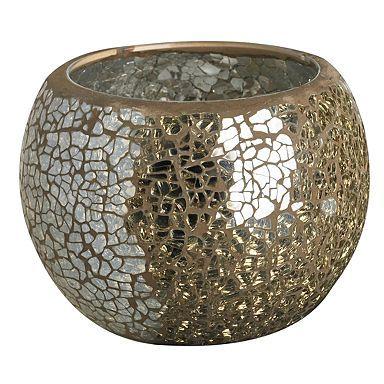 Gold Mosaic Tea Light Holder