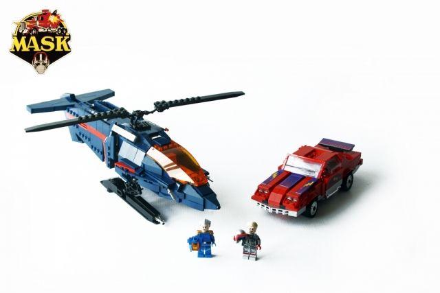 Orion Pax MASK Switchblade, Thunderhawk, Miles Mayhem and Matt Trekker