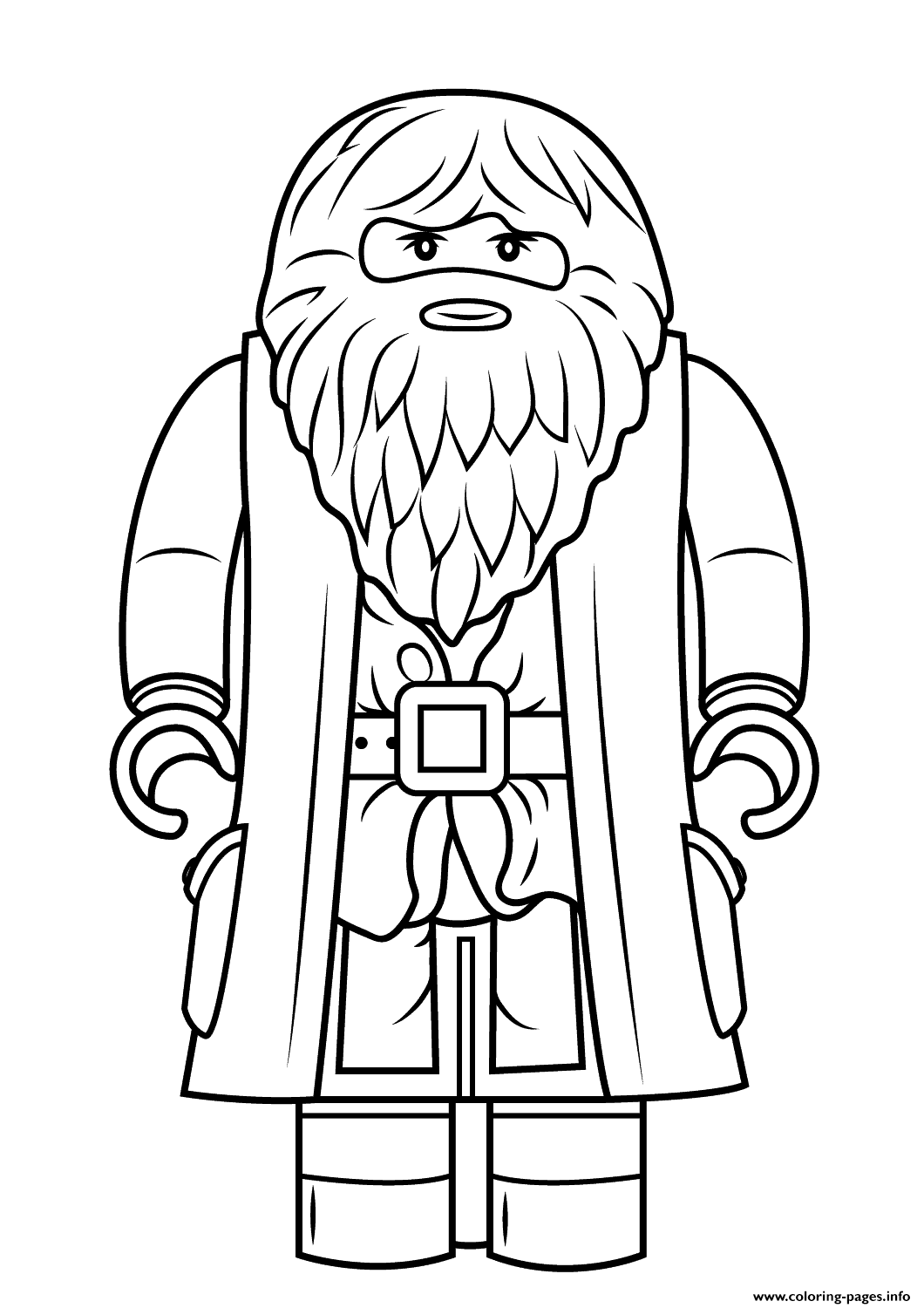 Print lego rubeus hagrid minifigure harry potter coloring pages