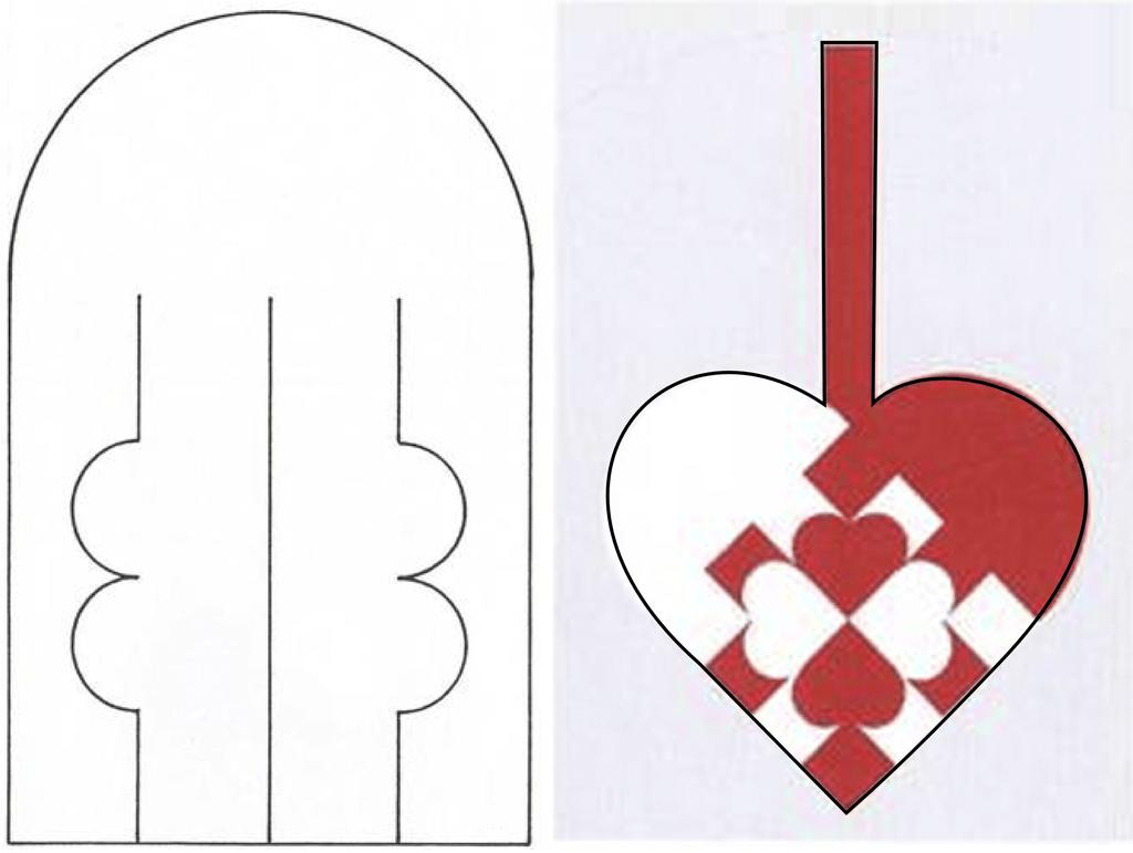 есть, плетение картинки из бумажных полосок сердце мать