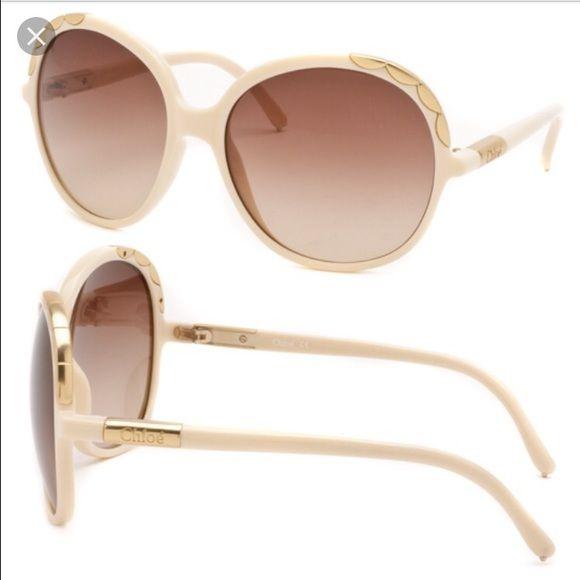 766423c0bc464 Chloe Sunglasses. Authentic Chloe Tan Nude sunglasses. Gold and tan  handles. Brand new