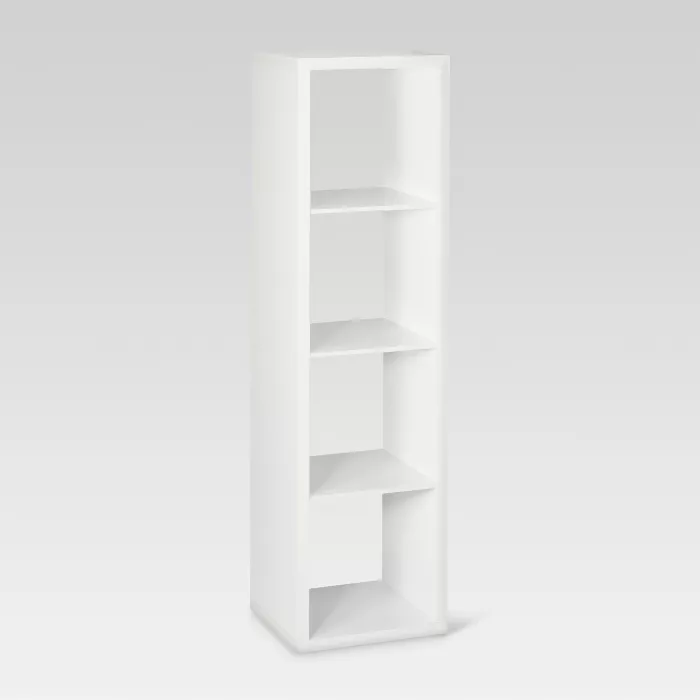 13 4 Cube Vertical Organizer Shelf Weathered Gray Threshold Shelves Shelf Organization Cube Shelves
