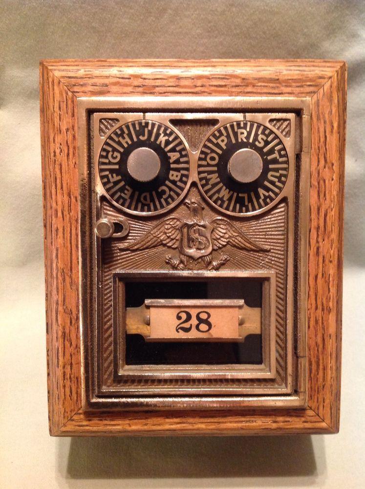 Antique Vintage Post Office Door Mail Box Postal Bank-Corbin Double Dial  Eagle #Corbin - Antique Vintage Post Office Door Mail Box Postal Bank-Corbin