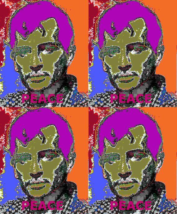 4 Jack Kerouac's Purple hair by StephenPeace on Etsy, $100.00