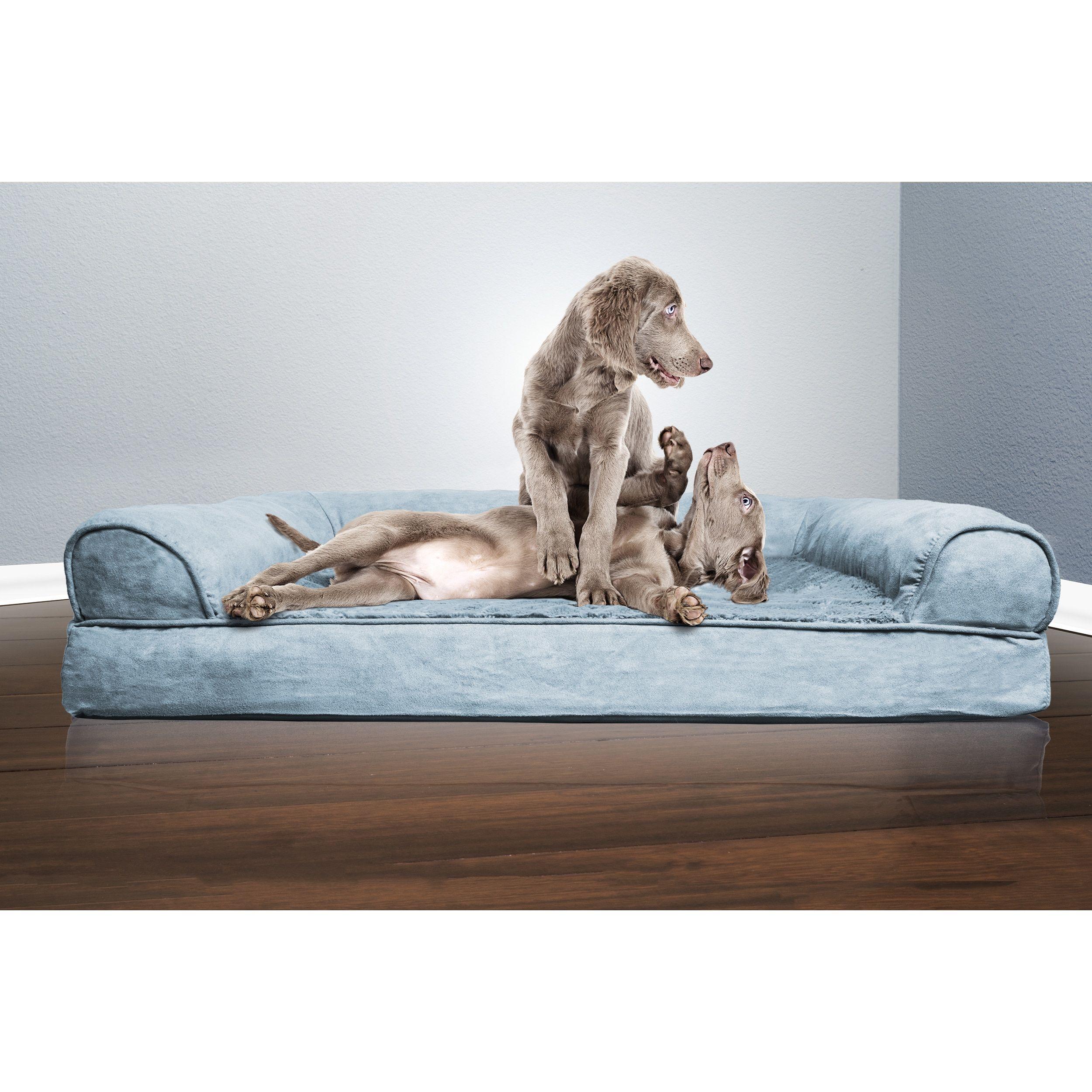 FurHaven Plush & Suede SofaStyle Orthopedic Bolster Pet