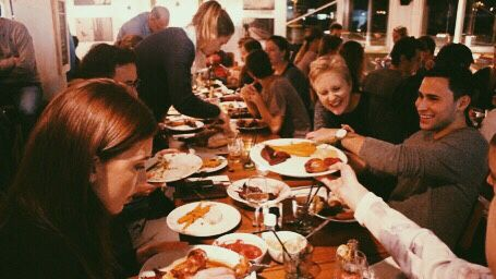 Thanksgiving in Hotel Jansen 2015. Families and friends coming over it was a day filled with preparations resulting in a lovely get together!