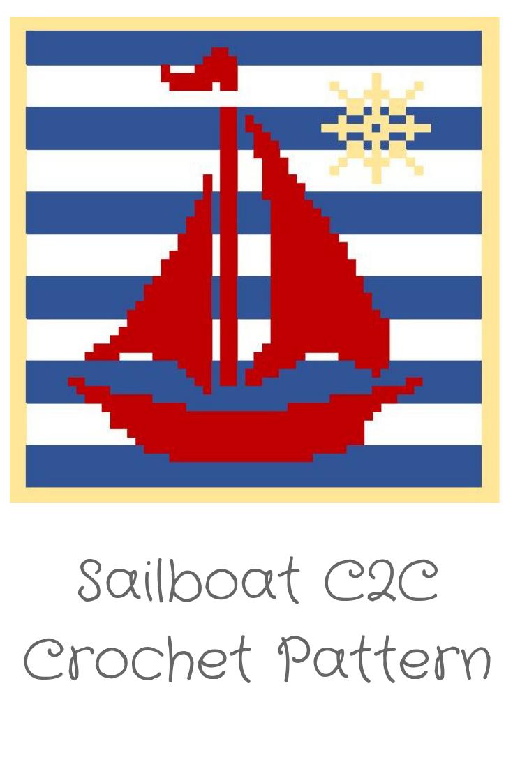 Graphgan, C2C Chart, C2C, Sailboat, Nautical, Crochet, Graph