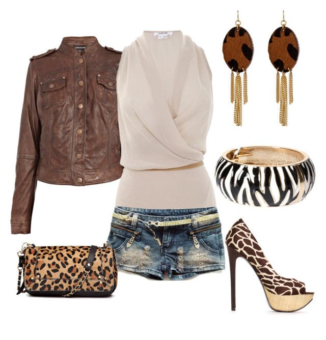 Animal Print by outfits-de-moda2 on Polyvore featuring moda, Helmut Lang, 2b bebe, Pieces and Yochi