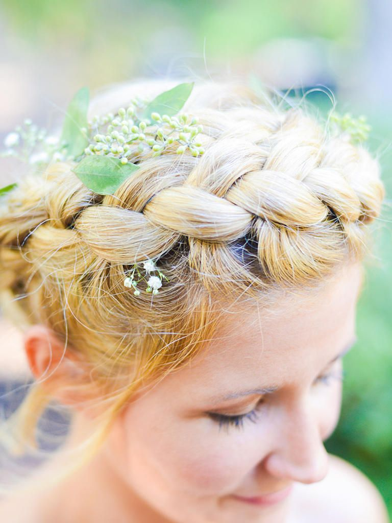 14 beach chic hairstyles perfect for a waterside wedding pinterest an inside out french braid can be crafted into a whimsical flower crown up do perfect for an outdoorsy wedding izmirmasajfo