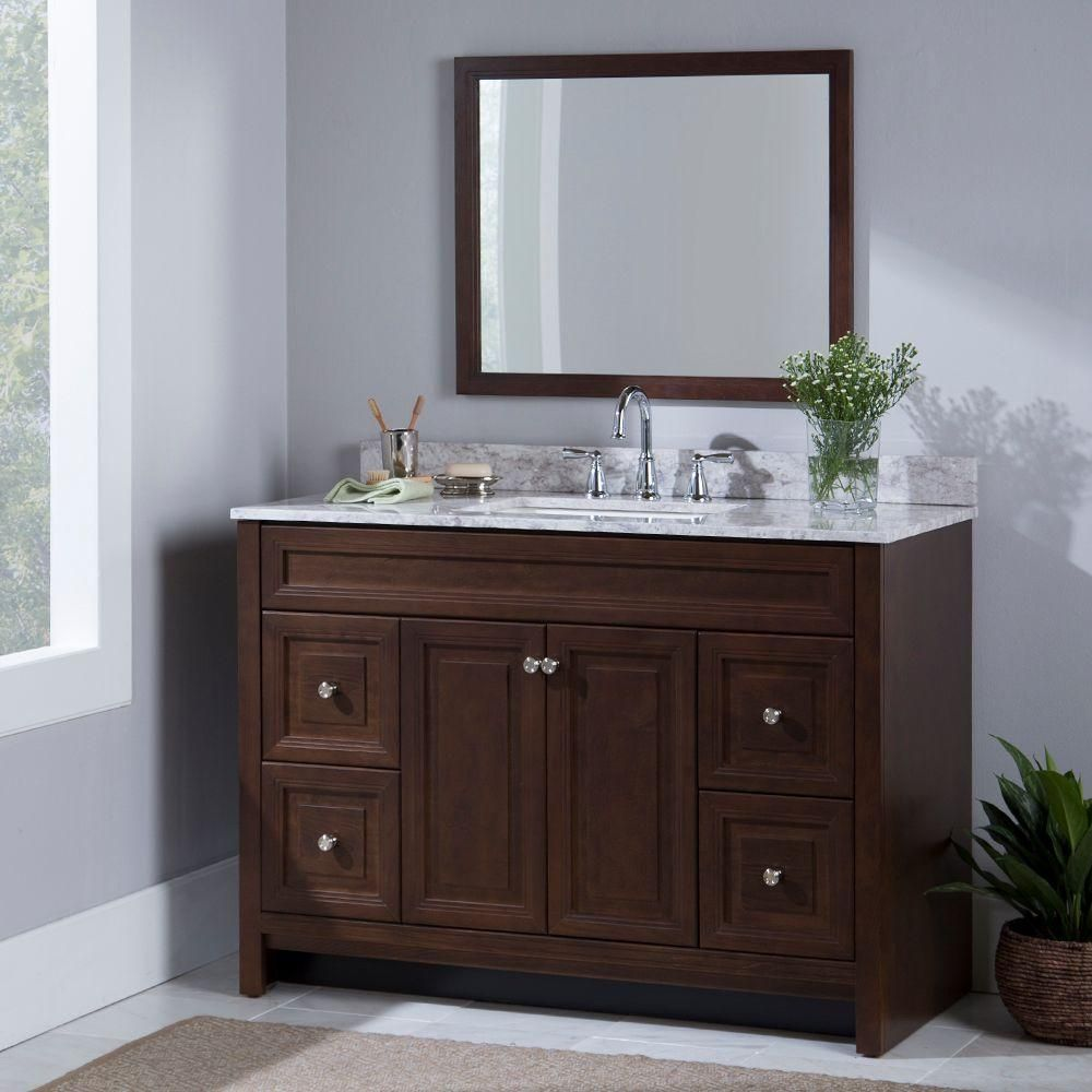 Home Decorators Collection Brinkhill 48 In. W Bath Vanity Cabinet