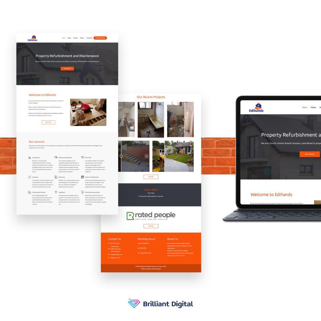Edihands In 2020 Portfolio Web Design Web Design Digital Marketing