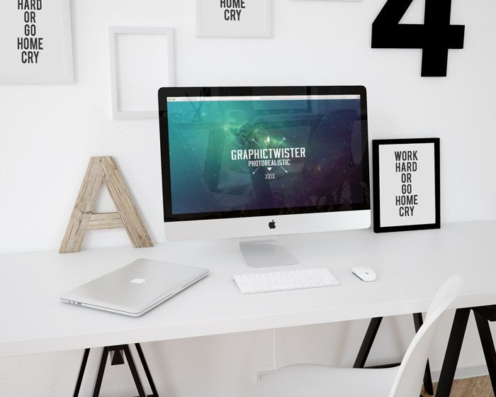 free workspace mockup imac template  60 1 mb