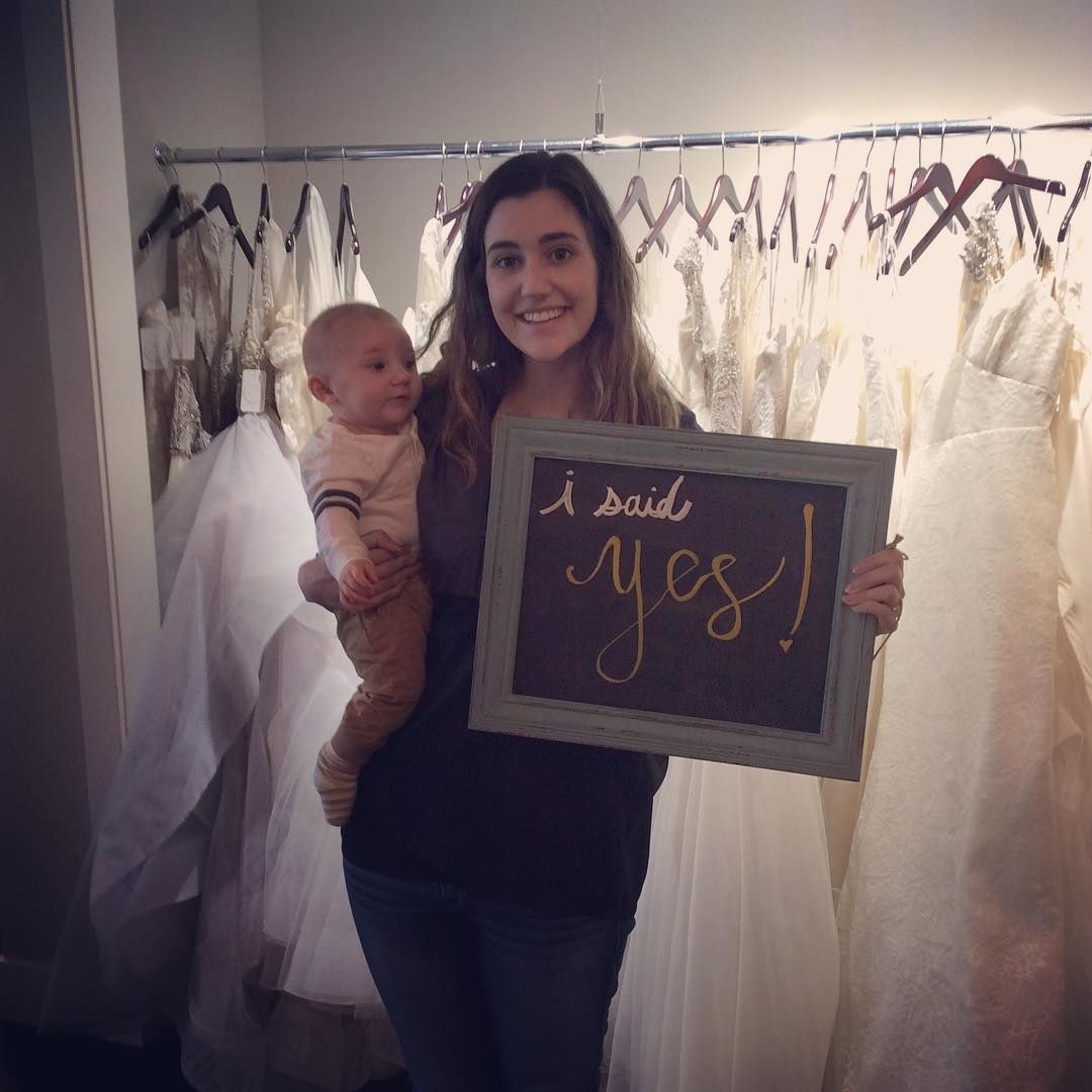 Melissa said yes today with her adorable little man in tow she is