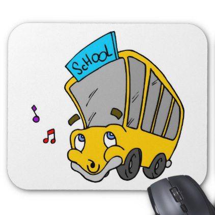 Cute School Bus Drawing Happy Face Mouse Pad Zazzle Com School